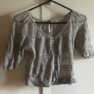 Free People cropped lace cardigan small